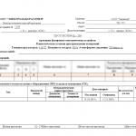 Протокол проверки фазировки электрических устройств